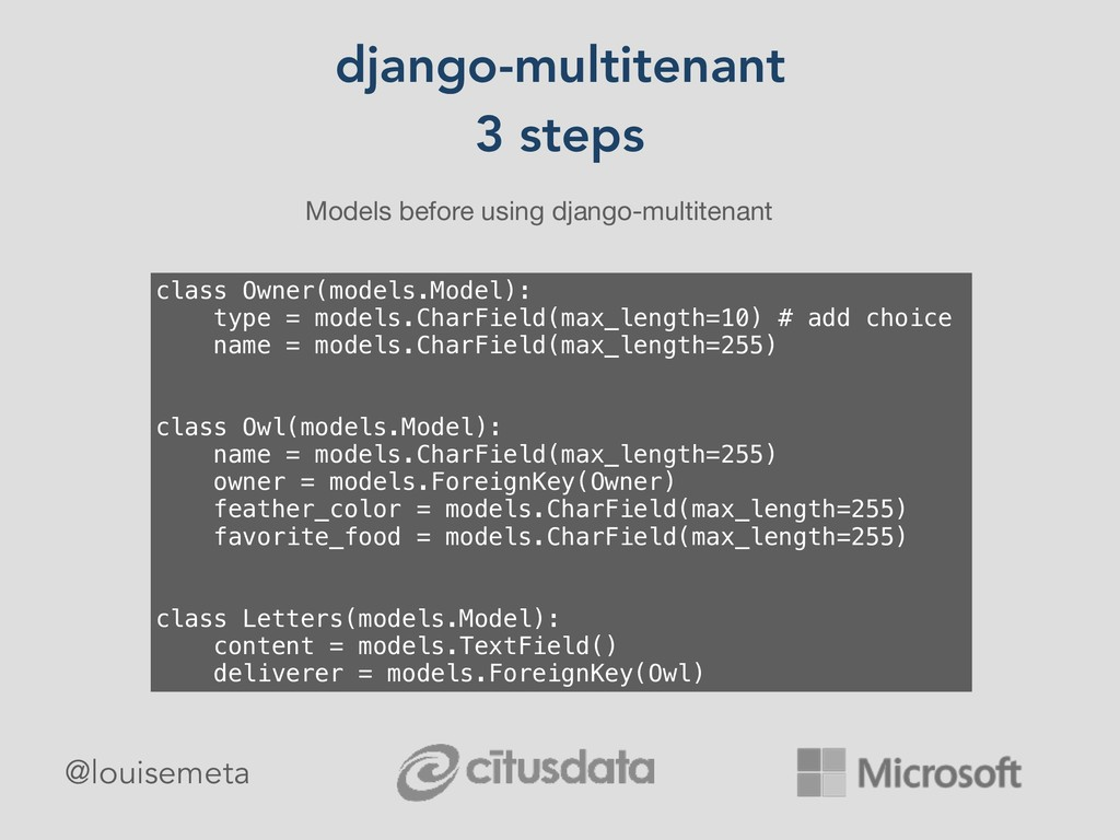 django-multitenant 3 steps Models before using ...
