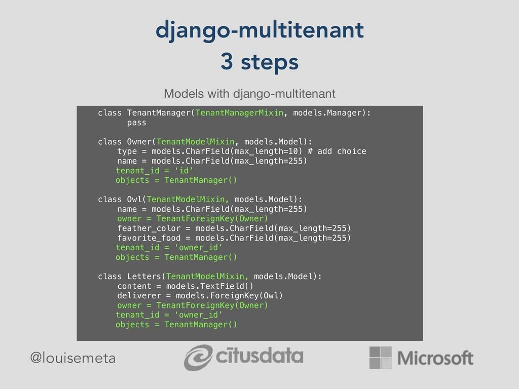 django-multitenant 3 steps Models with django-m...