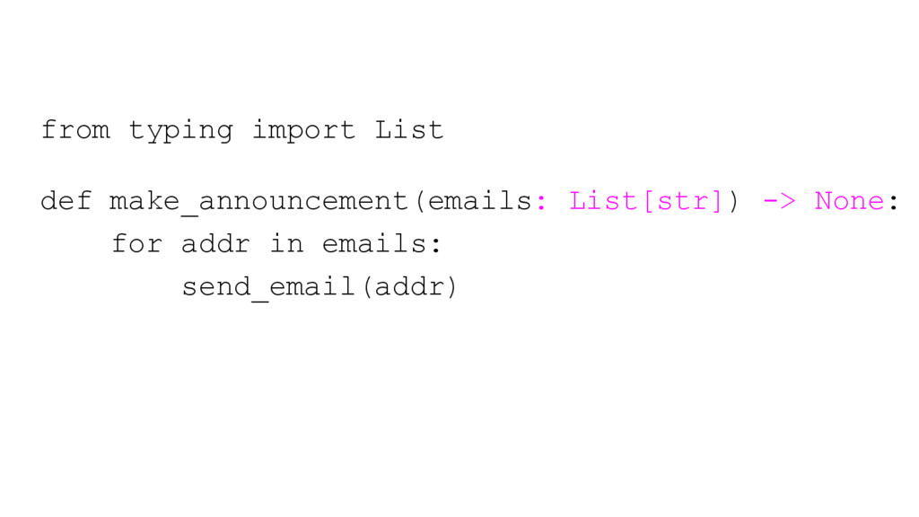 from typing import List def make_announcement(e...
