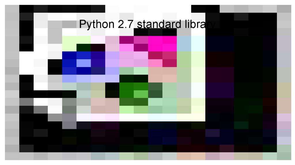 Python 2.7 standard library