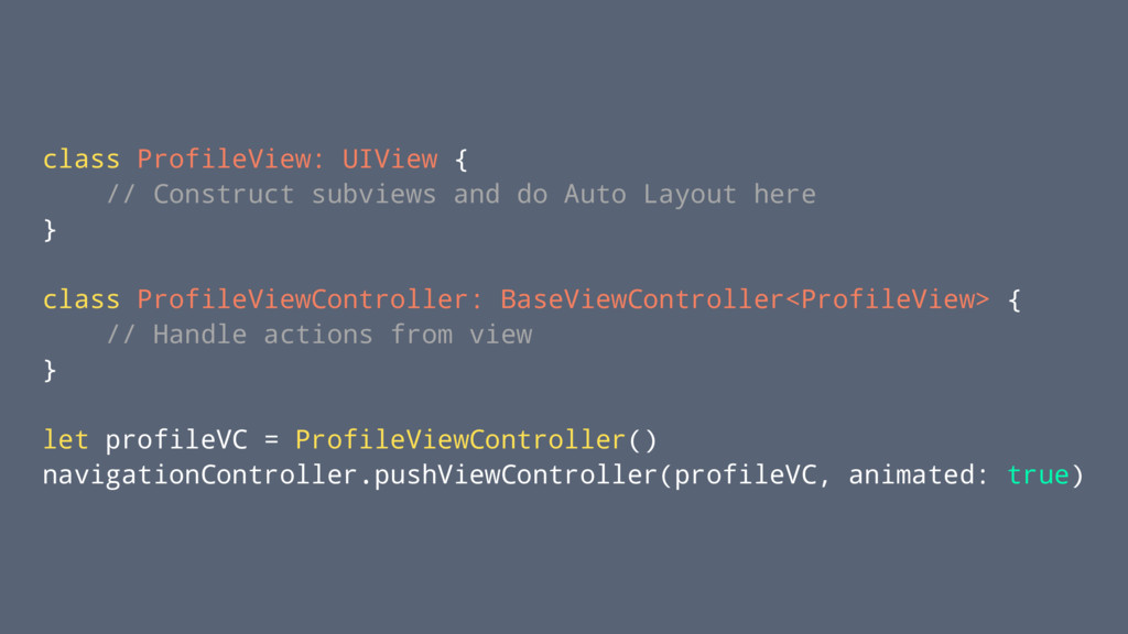 class ProfileView: UIView { // Construct subvie...