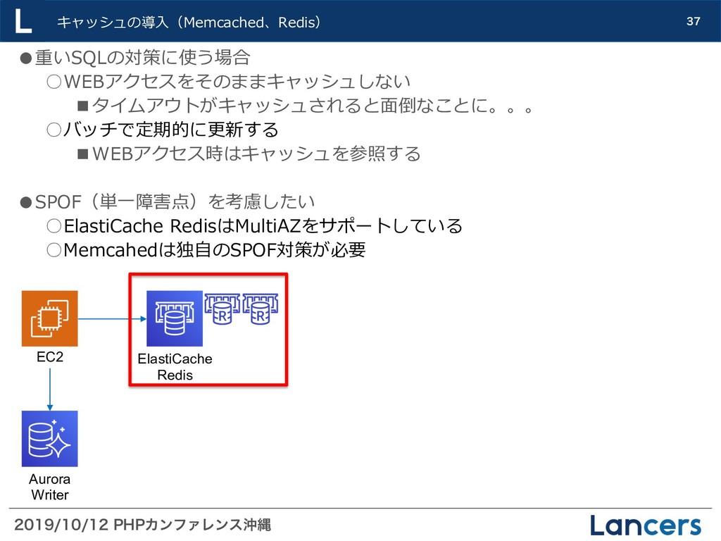 1)1ΧϯϑΝϨϯεԭೄ  キャッシュの導⼊(Memcached、R...