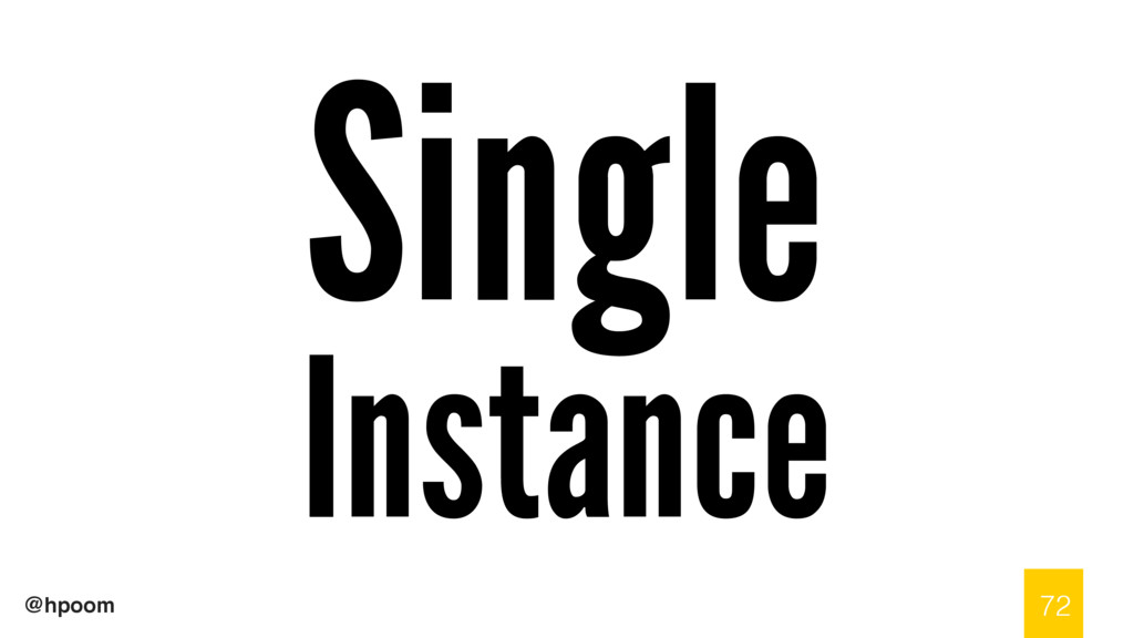@hpoom Single Instance 72