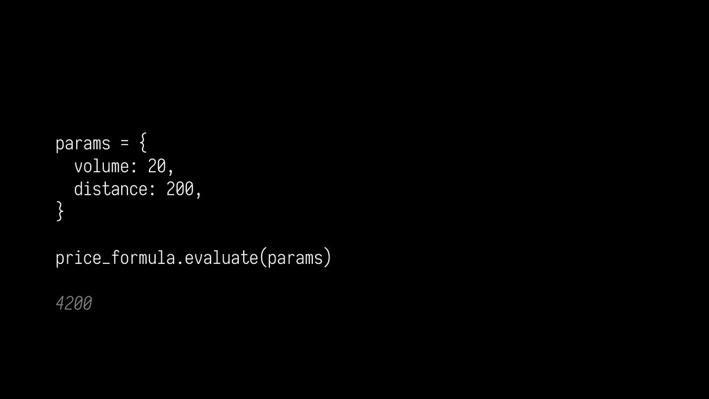 params = { volume: 20, distance: 200, } pri...