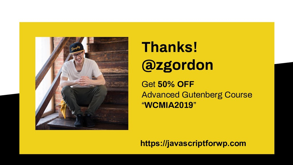 Thanks! @zgordon Get 50% OFF Advanced Gutenberg...