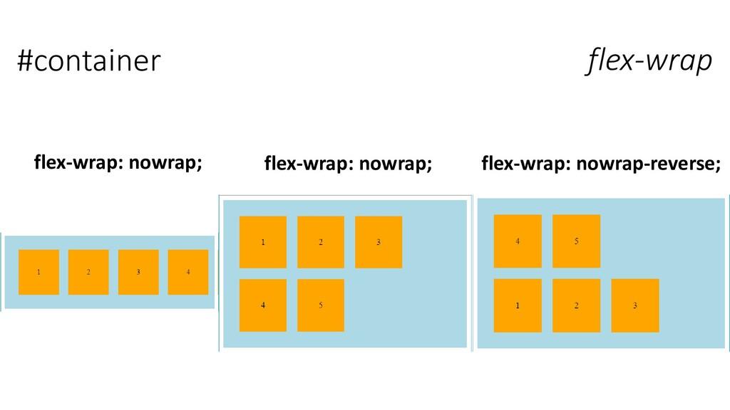 #container flex-wrap flex-wrap: nowrap; flex-wr...