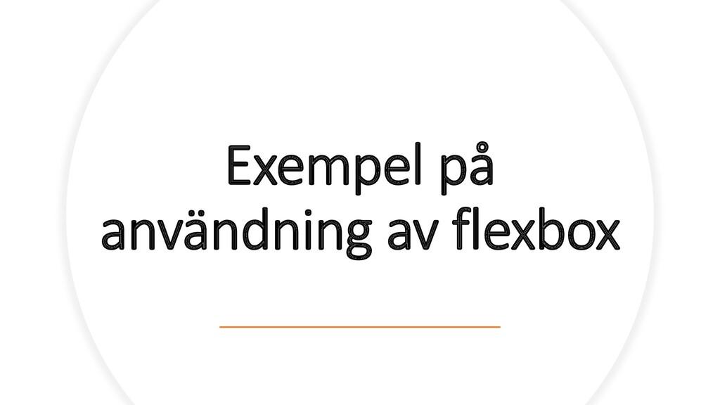 Exempel på användning av flexbox