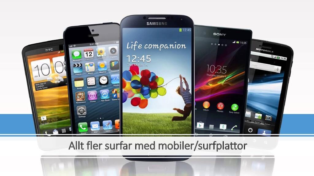Allt fler surfar med mobiler/surfplattor