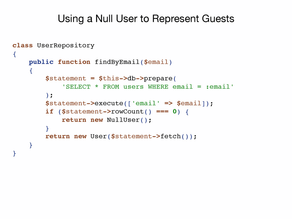 Using a Null User to Represent Guests class Use...