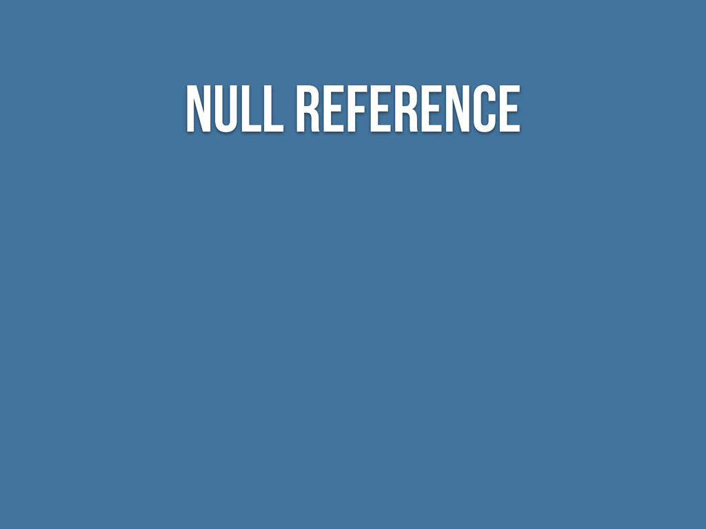 null reference