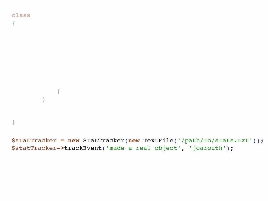 class { [ ) } $statTracker = new StatTracker(ne...