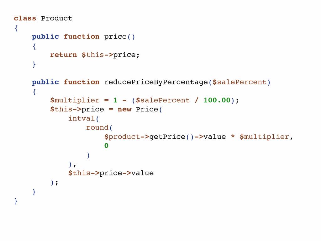 class Product { public function price() { retur...