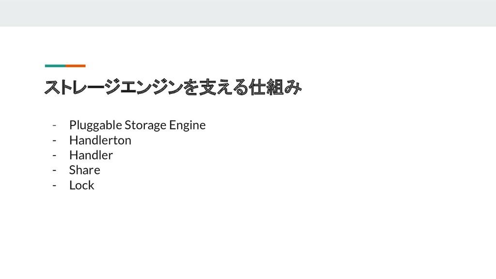 ストレージエンジンを支える仕組み - Pluggable Storage Engine - H...
