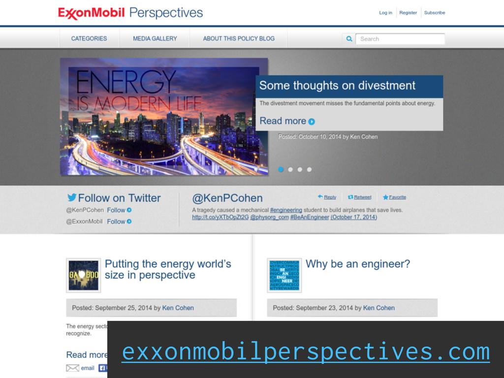 Social Engagement exxonmobilperspectives.com