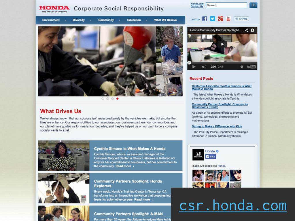 csr.honda.com