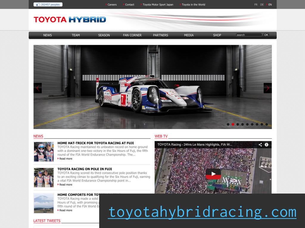 toyotahybridracing.com