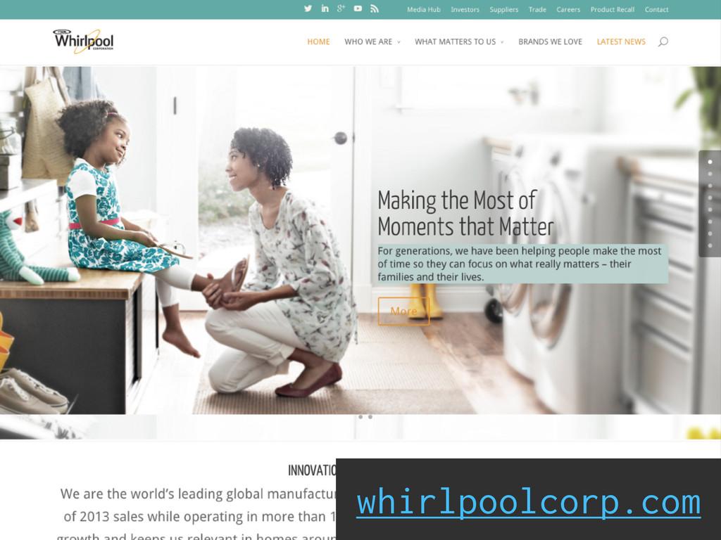 Social Engagement whirlpoolcorp.com