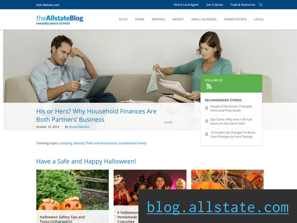 Social Engagement blog.allstate.com