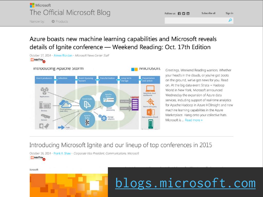 blogs.microsoft.com