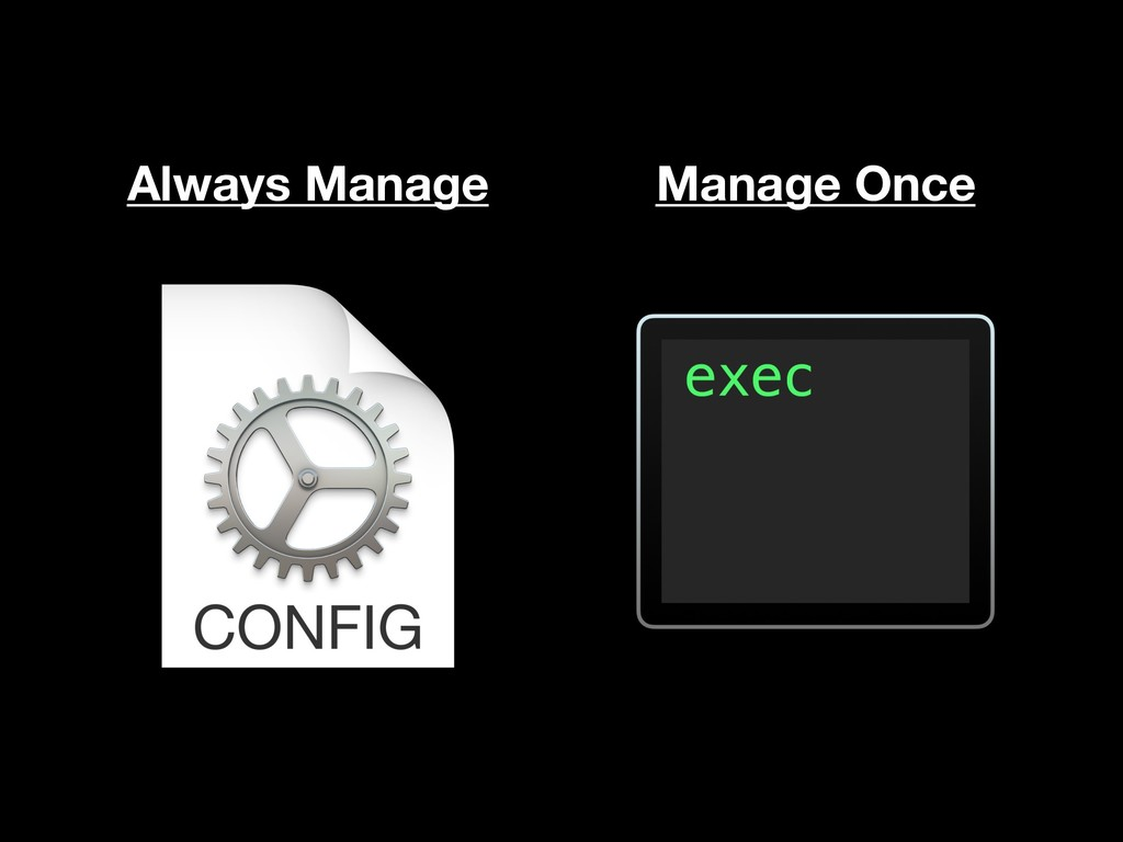 Always Manage Manage Once