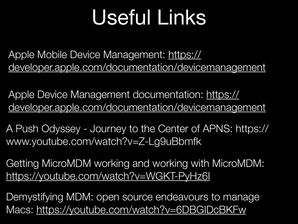 Apple Mobile Device Management: https:// develo...