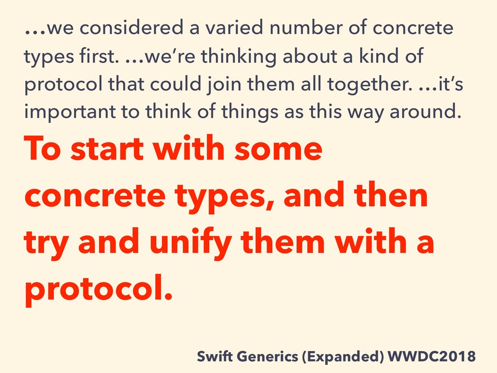 …we considered a varied number of concrete type...