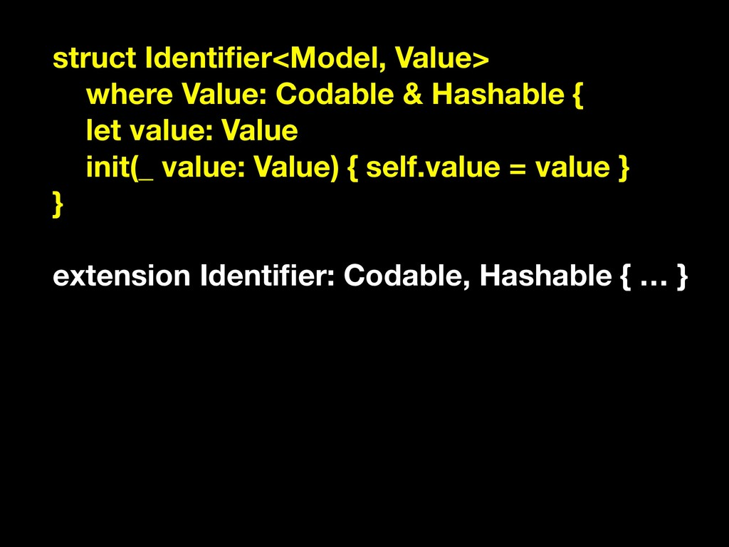 struct Identifier<Model, Value> where Value: Cod...