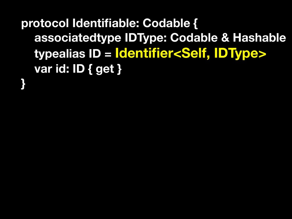 protocol Identifiable: Codable { associatedtype ...