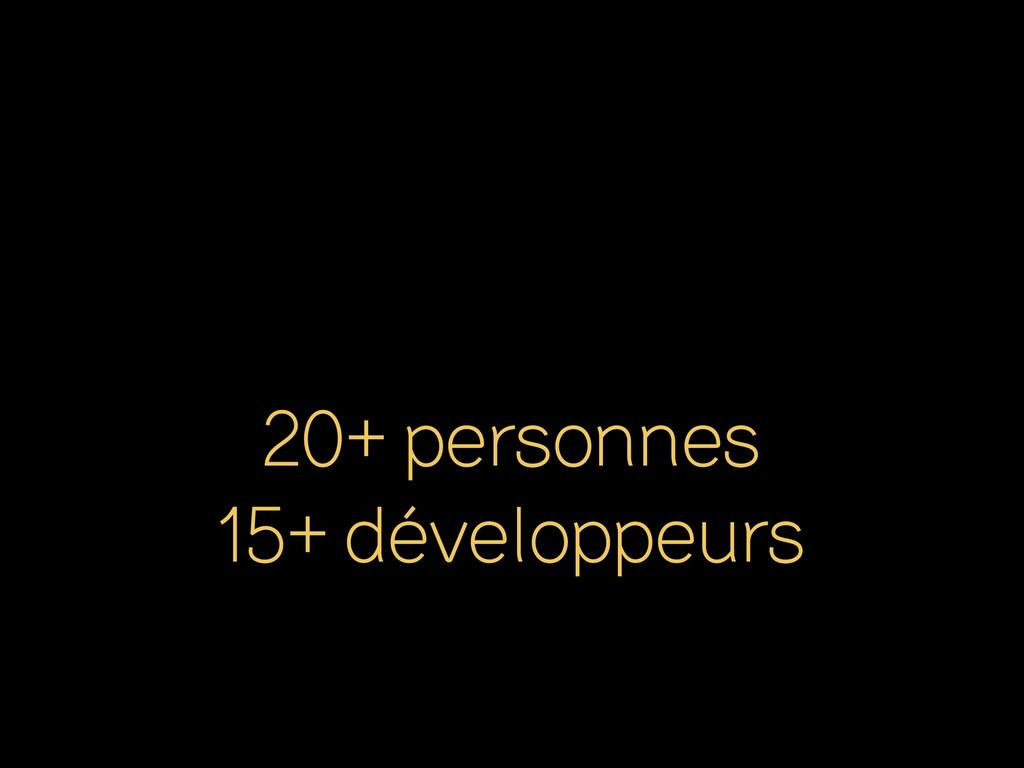 20+ personnes 15+ développeurs
