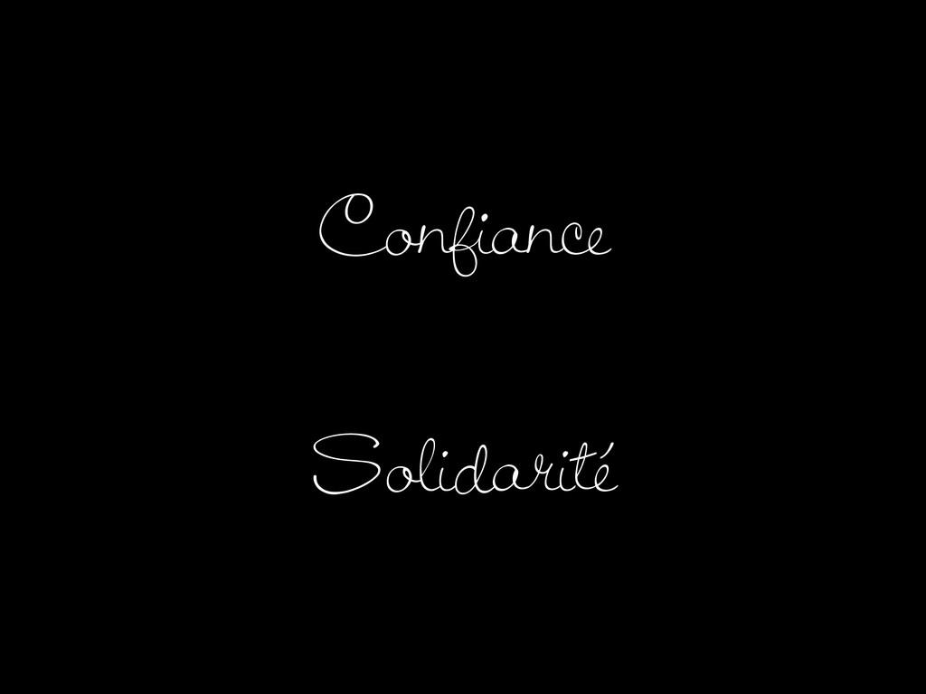 Confiance Solidarité