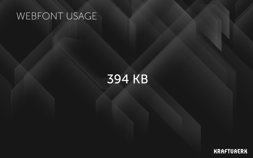 WEBFONT USAGE 394 KB