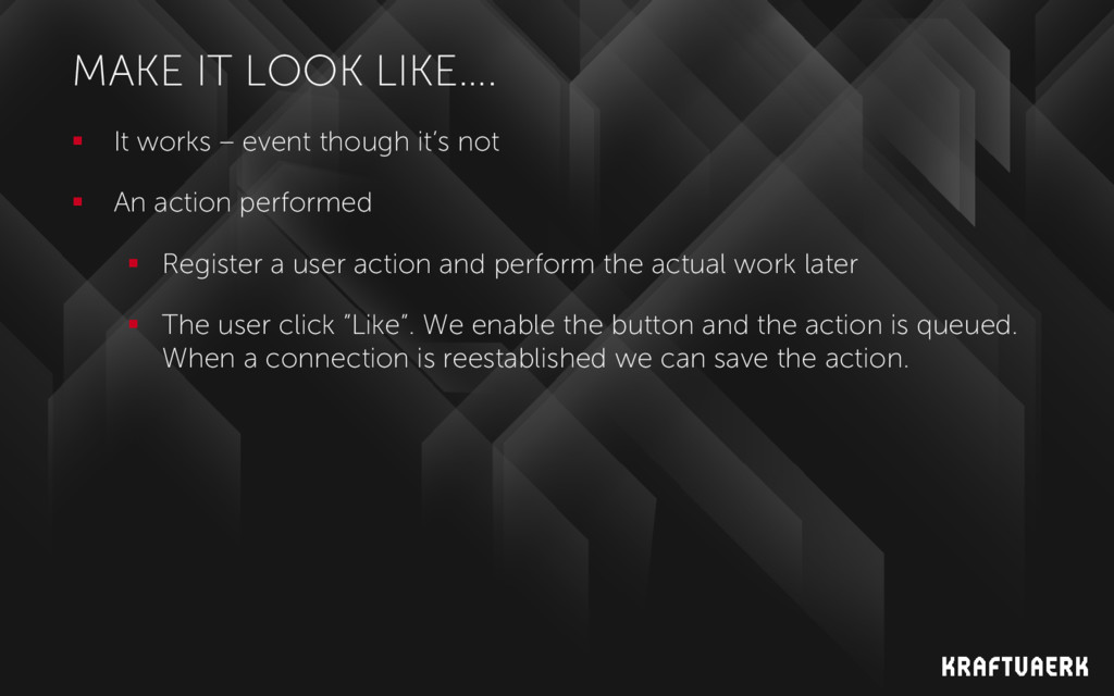 MAKE IT LOOK LIKE….  It works – event though i...