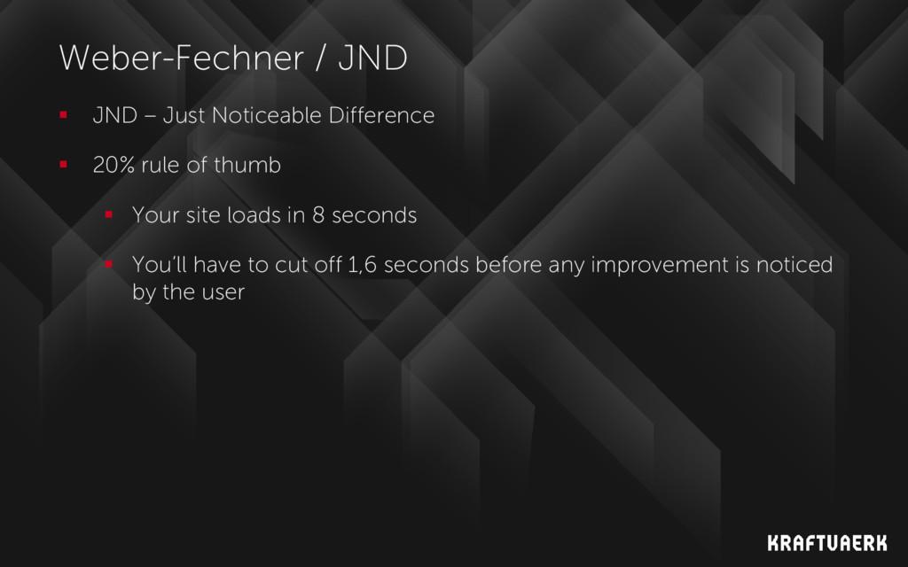Weber-Fechner / JND  JND – Just Noticeable Dif...