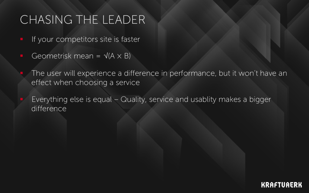 CHASING THE LEADER  If your competitors site i...