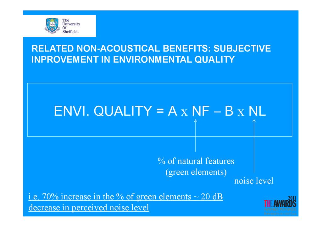 ENVI. QUALITY = A x NF – B x NL RELATED NON-ACO...