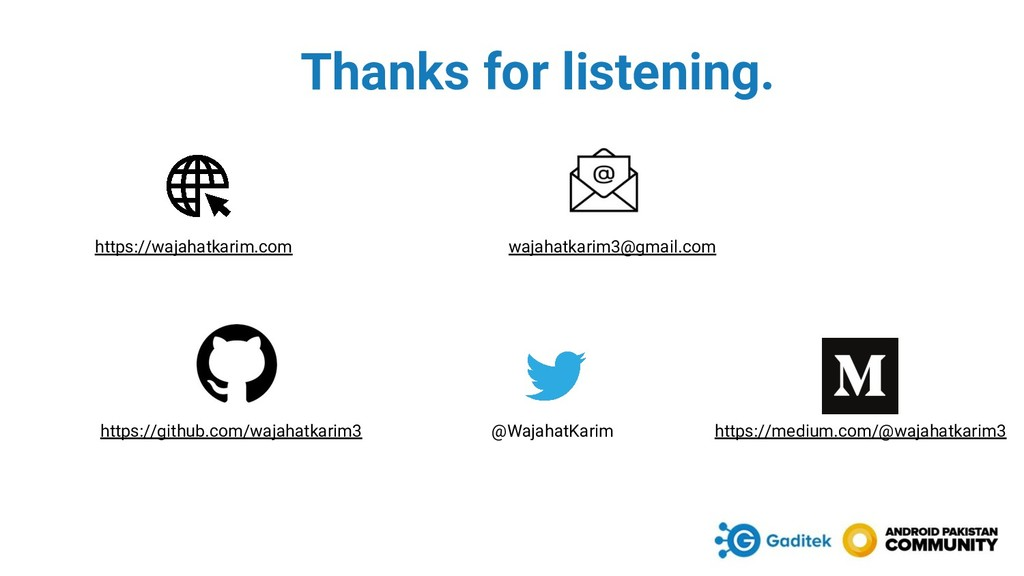 Thanks for listening. https://wajahatkarim.com ...