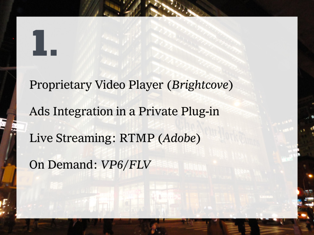 1. Proprietary Video Player (Brightcove) Ads In...