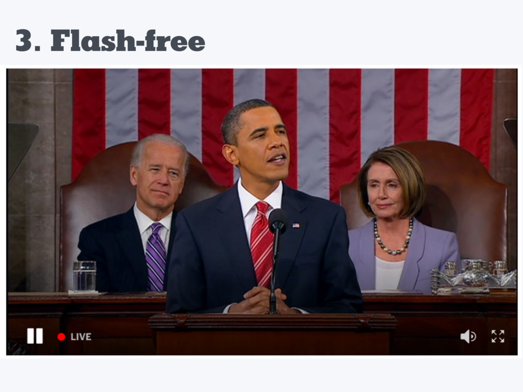 3. Flash-free