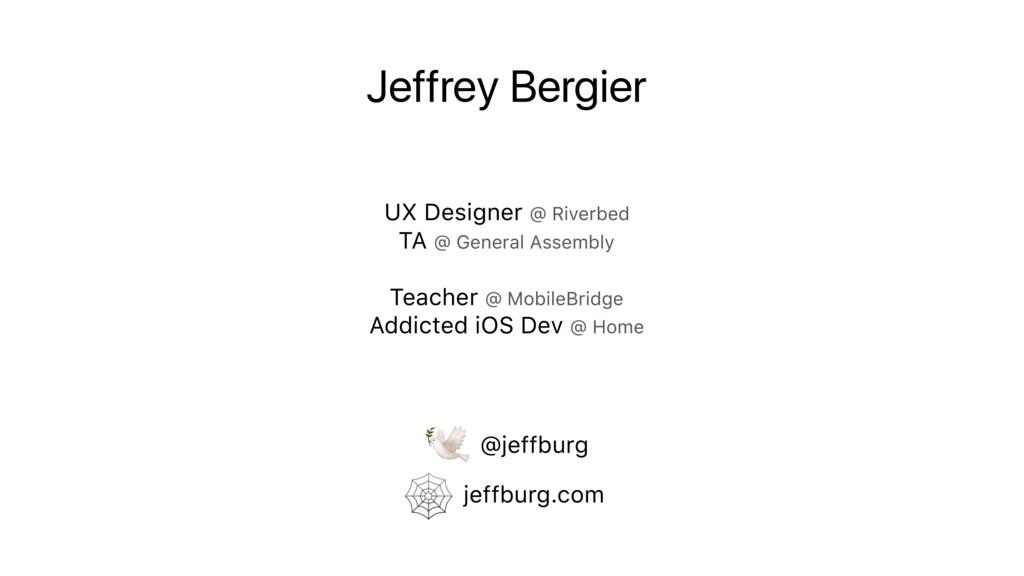 Jeffrey Bergier UX Designer @ Riverbed TA @ Gen...