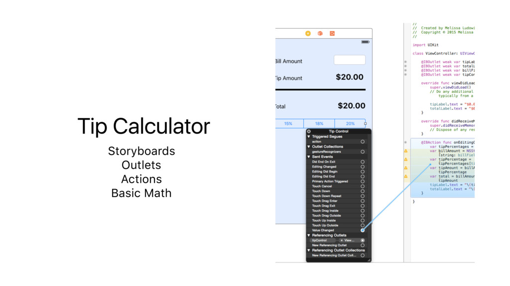 Tip Calculator Storyboards Outlets Actions Basi...