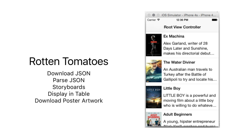 Rotten Tomatoes Download JSON Parse JSON Storyb...