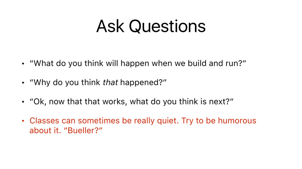 """Ask Questions • """"What do you think will happen ..."""