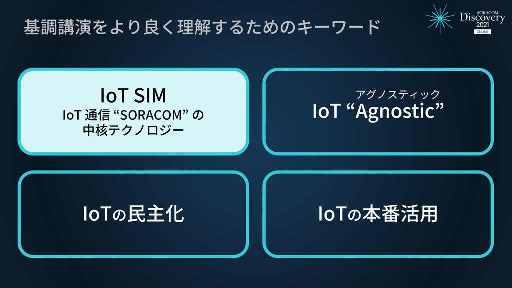 "IoT SIM IoT 通信 ""SORACOM"" の 中核テクノロジー"
