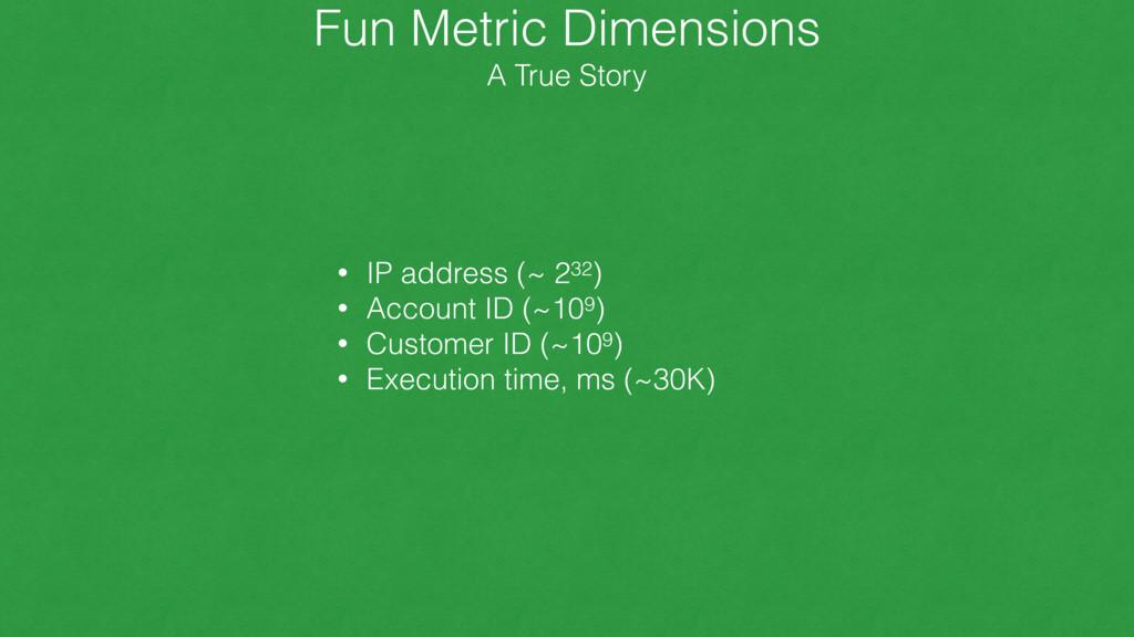 Fun Metric Dimensions A True Story • IP addres...