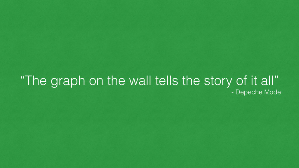 """""""The graph on the wall tells the story of it al..."""