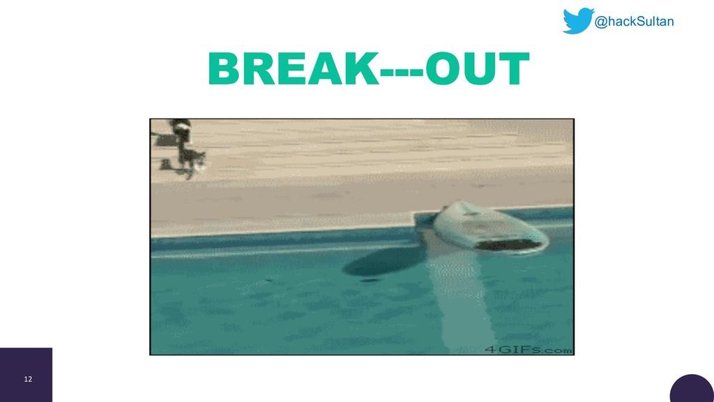 12 BREAK---OUT @hackSultan