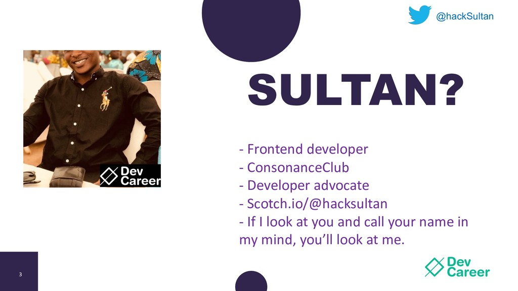 3 SULTAN? @hackSultan - Frontend developer - Co...