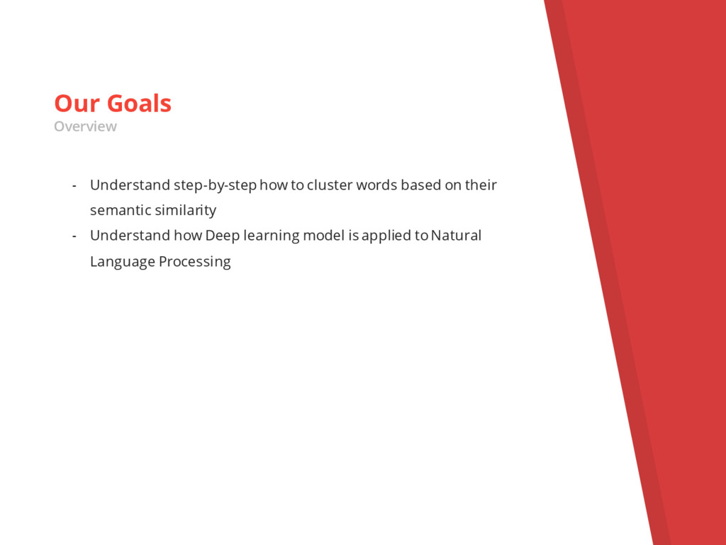 - Understand step-by-step how to cluster words ...
