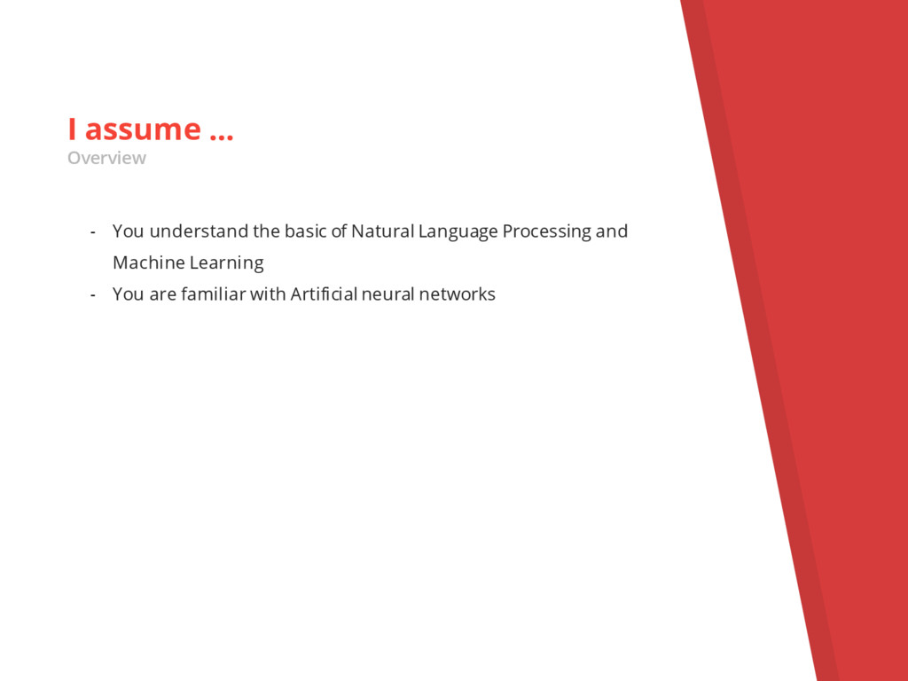 - You understand the basic of Natural Language ...