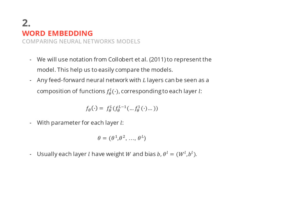 2. WORD EMBEDDING COMPARING NEURAL NETWORKS MOD...